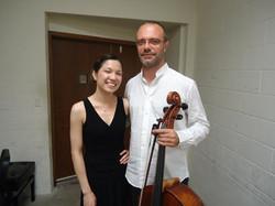 with cellist, Francesco Mastromatteo