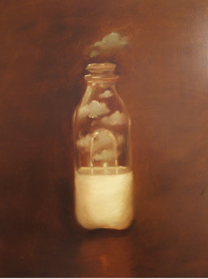MILK BOTTLE WITH CLOUDS
