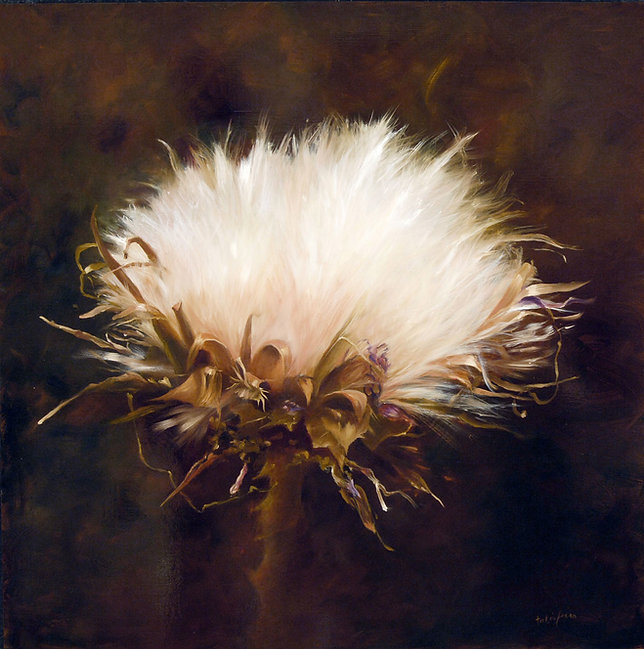 Thistle, oil on canvas.