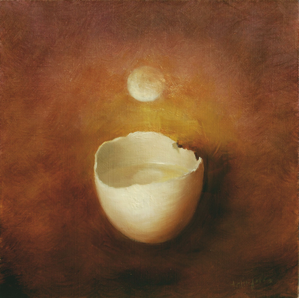 EGGSHELL WITH MOON