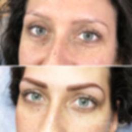 Le maquillage permanent des sourcils met les yeux en valeur