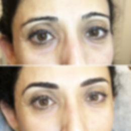 Correction de la forme du sourcils au maquillage permanent.