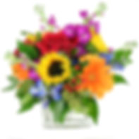 Vibrant Garden Cube by Carithers Flowers