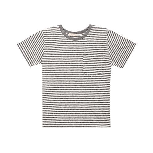 Camiseta Merci Listrado Chumbo