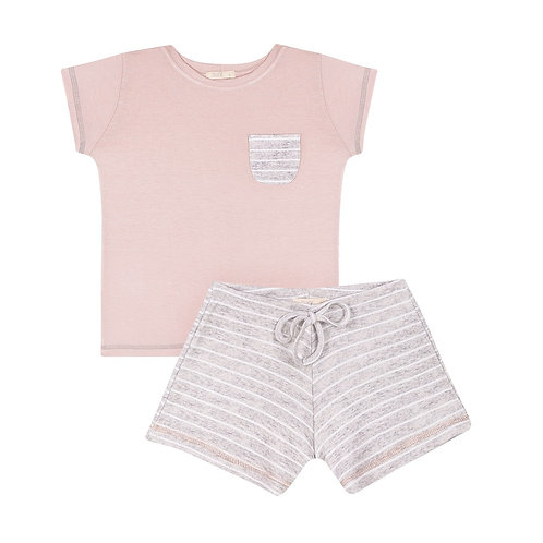 Pijama Menina Listrado