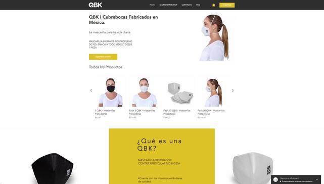 E-commerce de Venta de Cubrebocas.