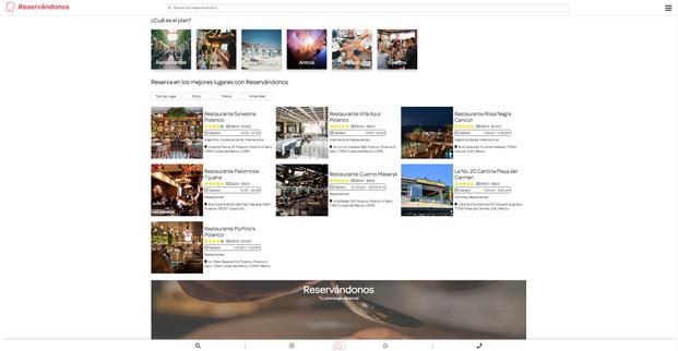 Directorio de Restaurantes, Bares, Beach Club y Centros Nocturnos.