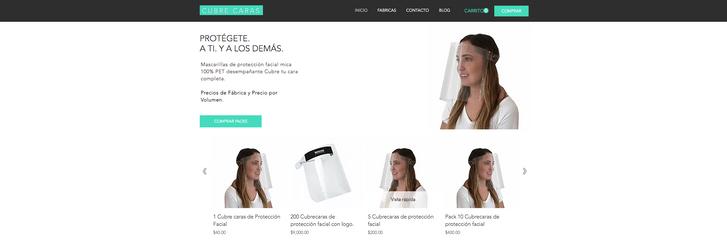 E-commerce de Caretas de Protección Facial.