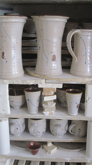 hand made pots after the firing