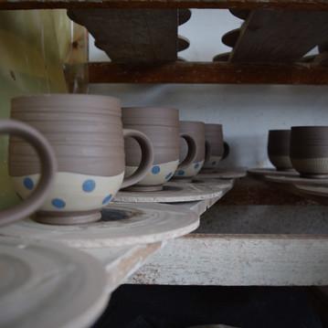 leatherhard mugs