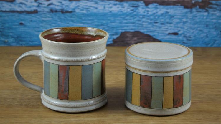 Fiesta Mug and Lidded Pot