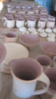 glazed hand made pottery