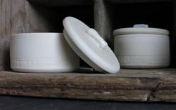 small porcelain pots