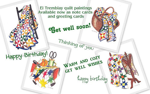 Quilt note cards set of 8