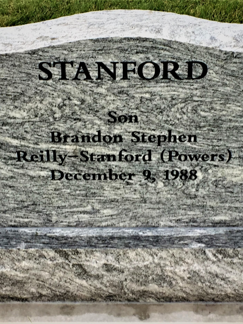 Stanford Upright Headstone