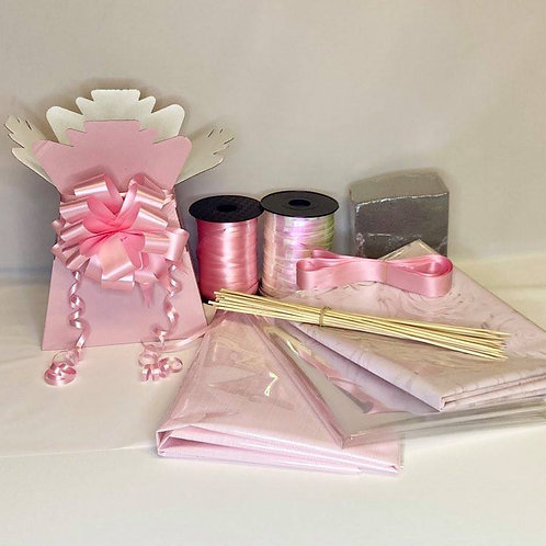 Make your own chocolate bouquet kit Vintage pink