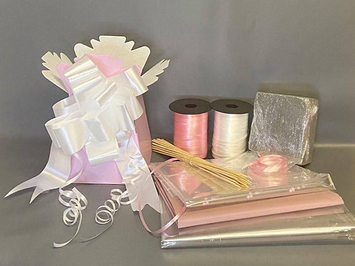 Make your own chocolate bouquet kit baby pink