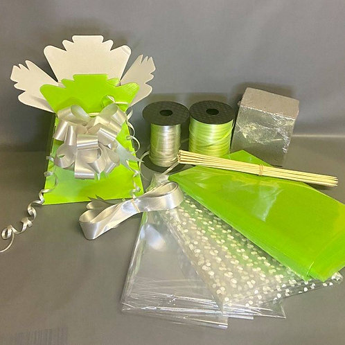 Make your own chocolate bouquet kit Lime green