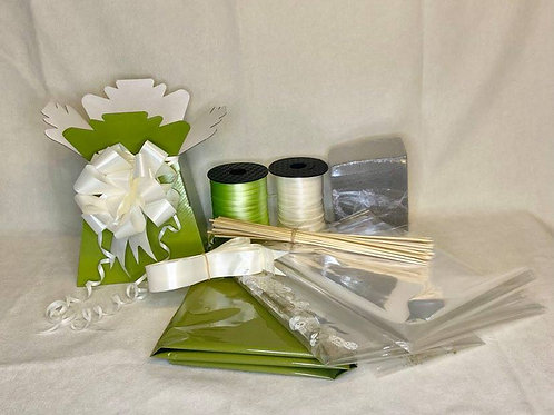 Make your own chocolate bouquet kit Olive Green