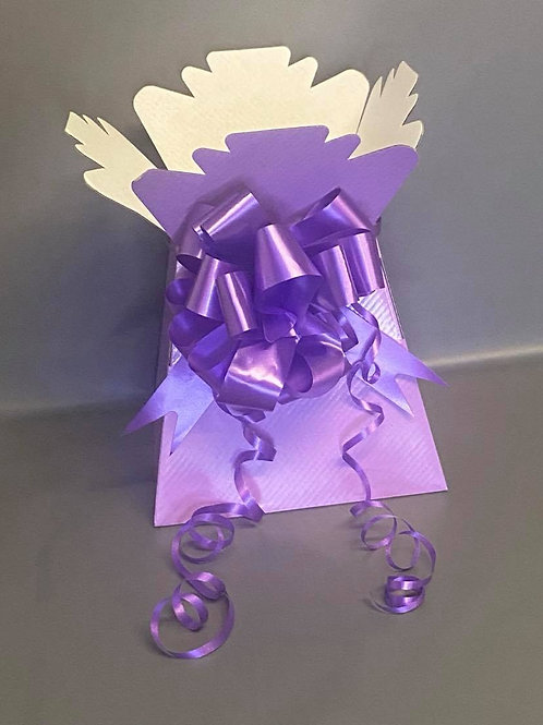 Lilac Bouquet Box & Lilac Pull Bow for Sweet/Chocolate Bouquet