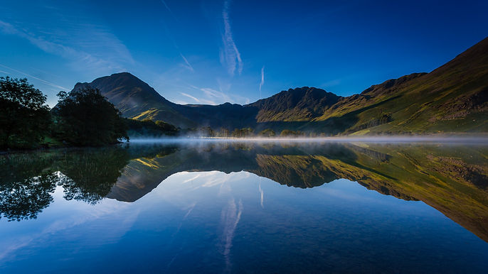 Canva - Early morning mist on Buttermere