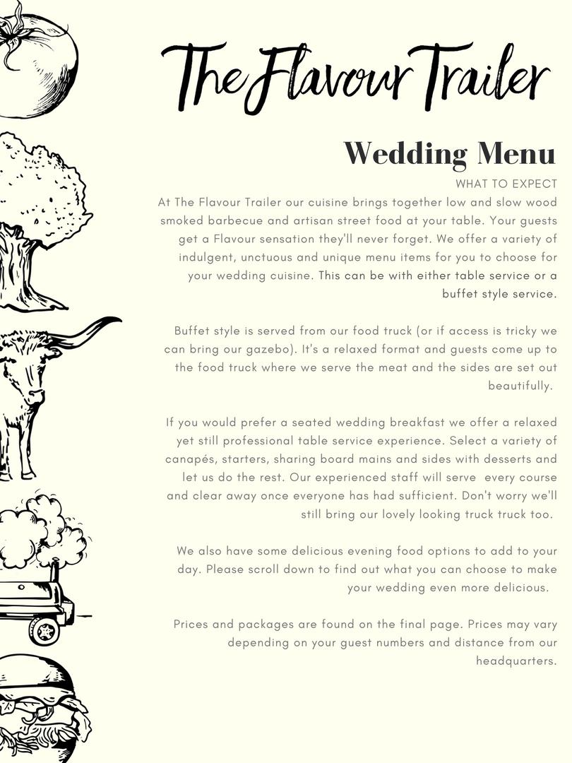 _The Flavour Trailer - Wedding Menu 2020