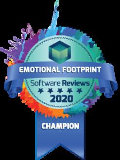 Software Reviews 2020 Ribbon for Emotional Footprint Champion