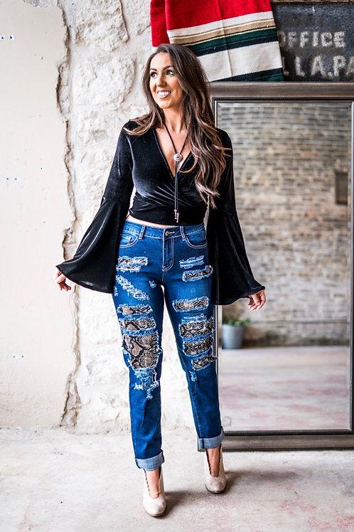 Snake Blue Jeans