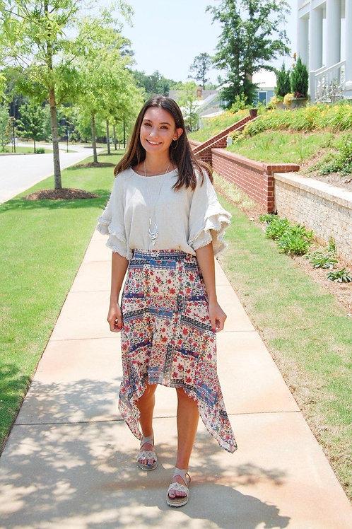 Floral Scarf Skirt