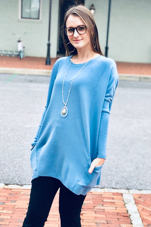 Sky Pocket Sweater