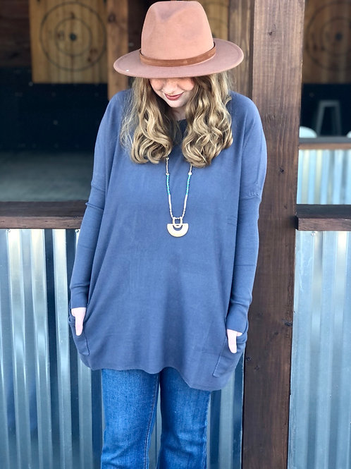 Oversize Sweater (Navy)