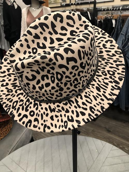 Beige Animal Panama Hat
