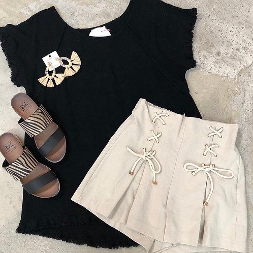 Cutie Pie Shorts (Beige)