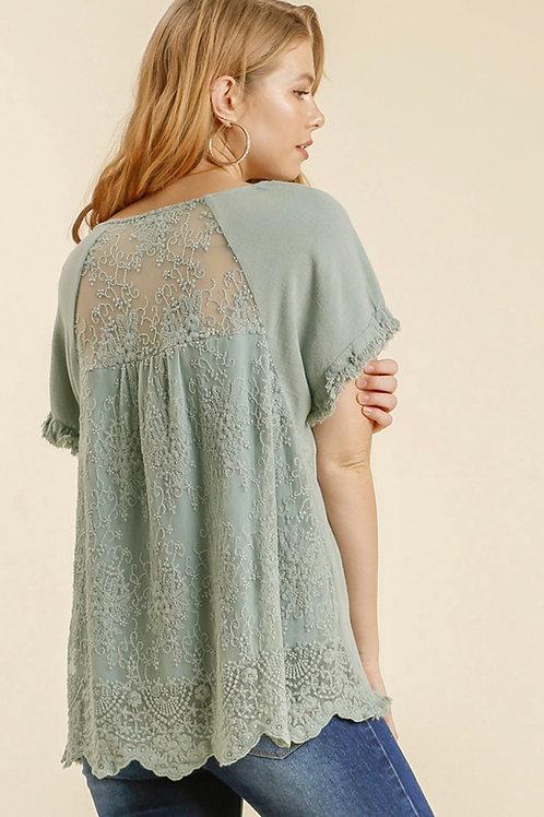 Dusty Mint Lace