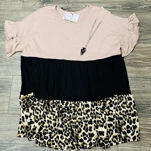 Leopard Babydoll Plus(Mocha)