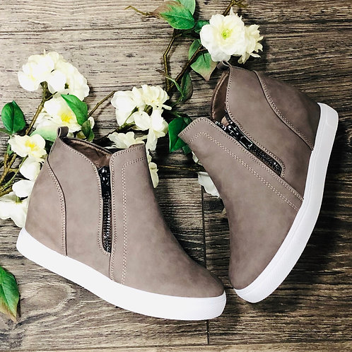 Wedge Taupe Shoe