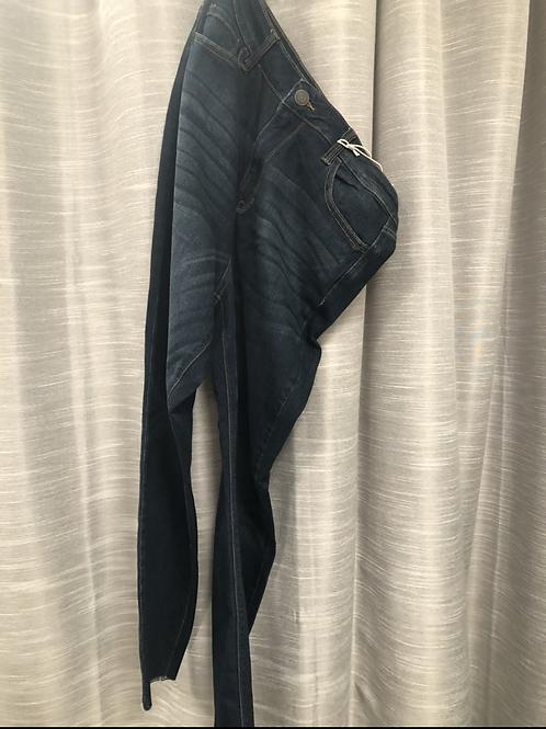 Dark Wash Frayed Plus Jeans