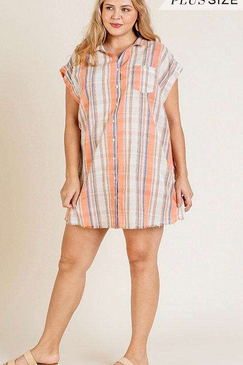 Peach Mix shirt/cover-up