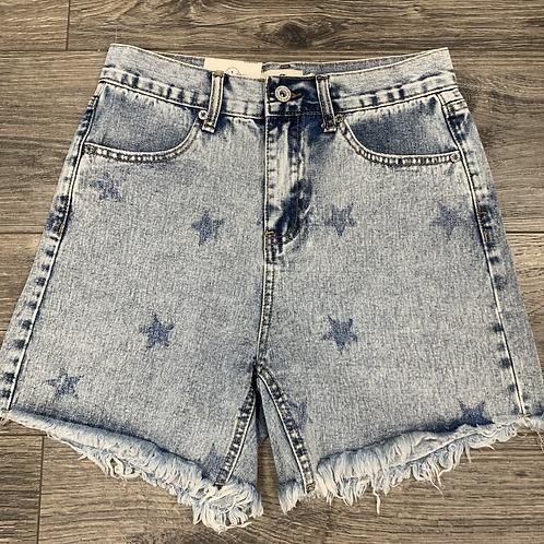 Denim Star Shorts