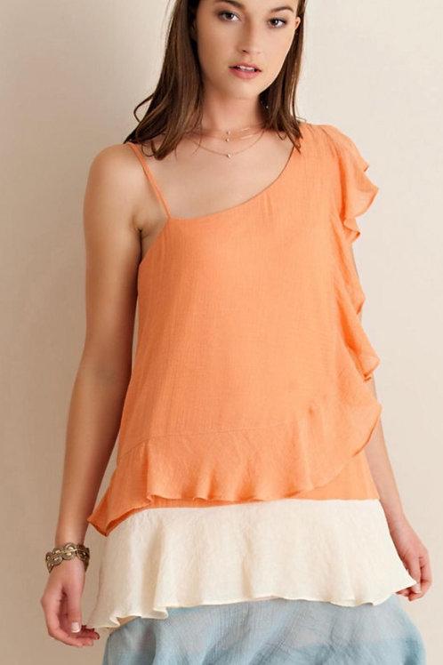 Apricot Combo Dress