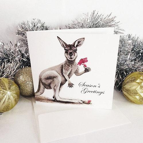 XMAS GREETING CARD - Kangaroo
