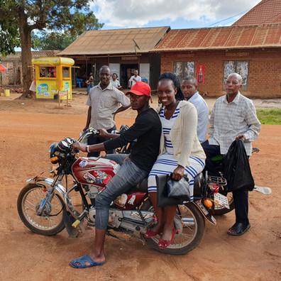 Nashiba traveling for the Malaria Prevention Programme