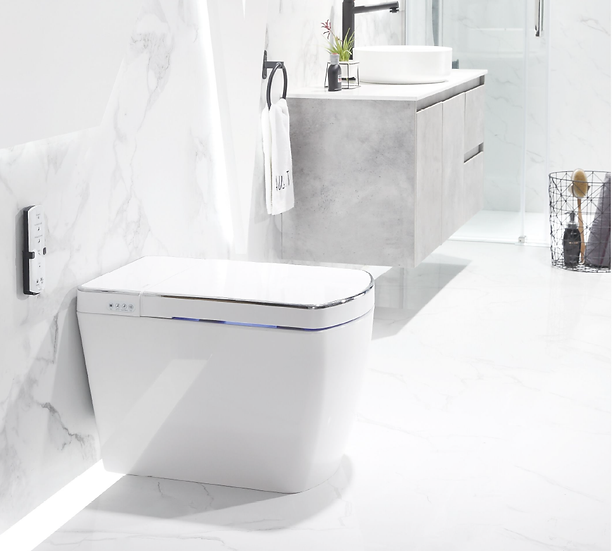 LAFEME Luxury Smart Bidet Toilet with Smart Phone App Control