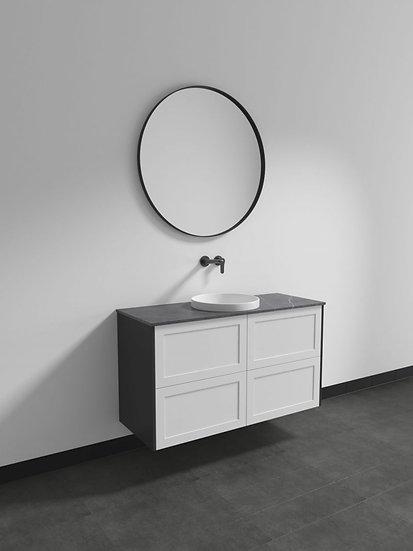 Marcella Custom Range 1200mm Wall Hung Vanity Single Basin with Flat Stone