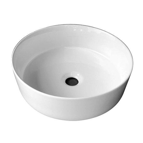 Mini Slim Ceramic Basin in Gloss White
