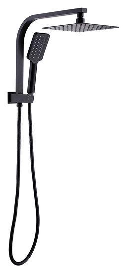Qubi Matt Black Compact Shower Set