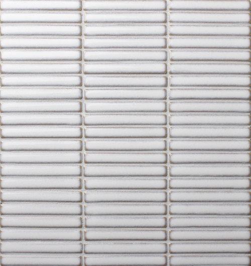 Japanese Finger Mosaics 284x298mm Gloss White