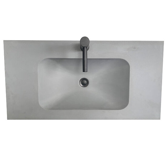 Solid Surface Top Moulded Bowl 900mm in Concrete Grey