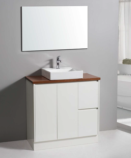 White Soft Close Vanity 900mm