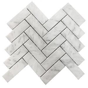 Large Carrara Herringbone 35x110x8 ITA059